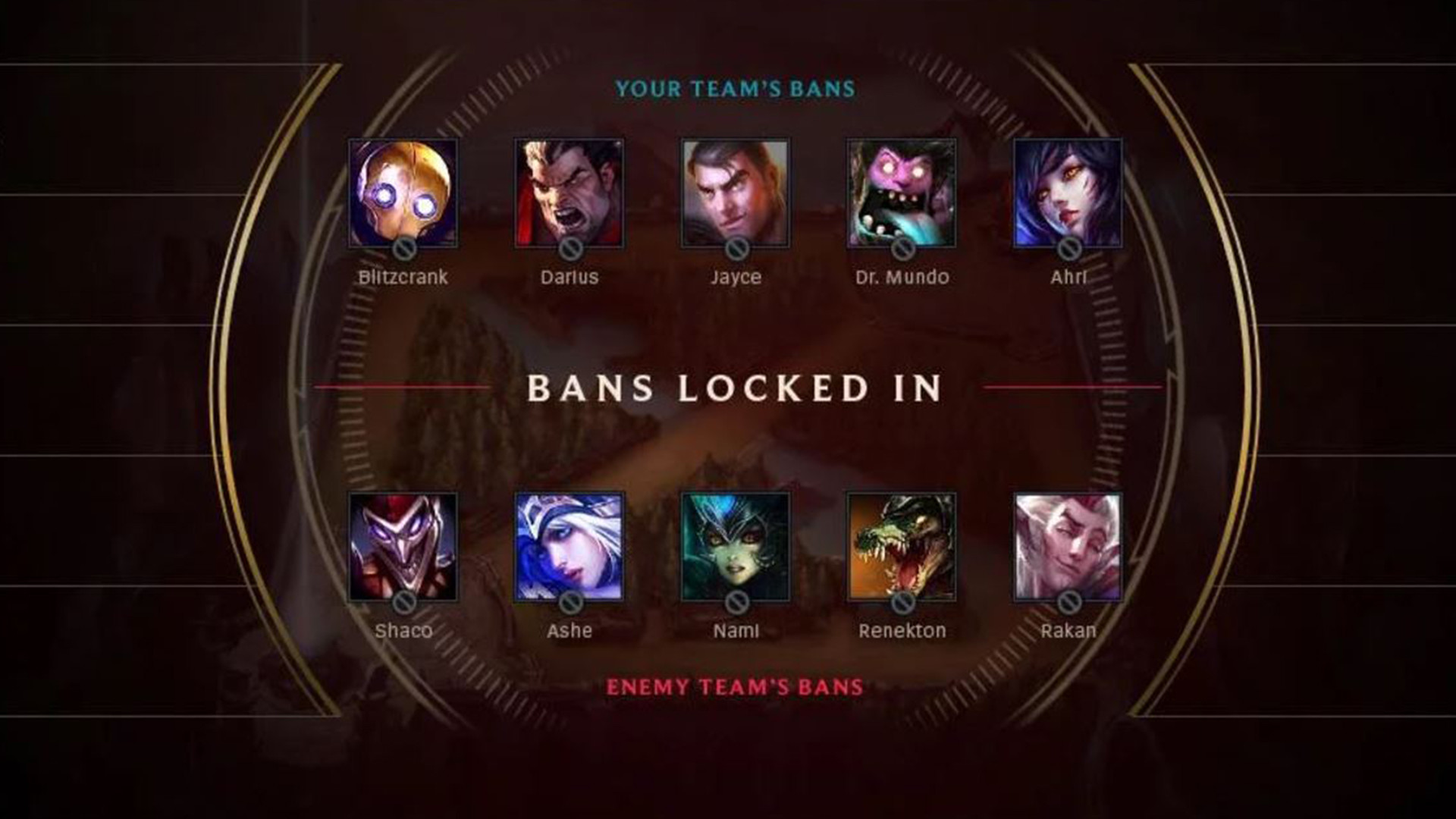 10 bans sur league of legends