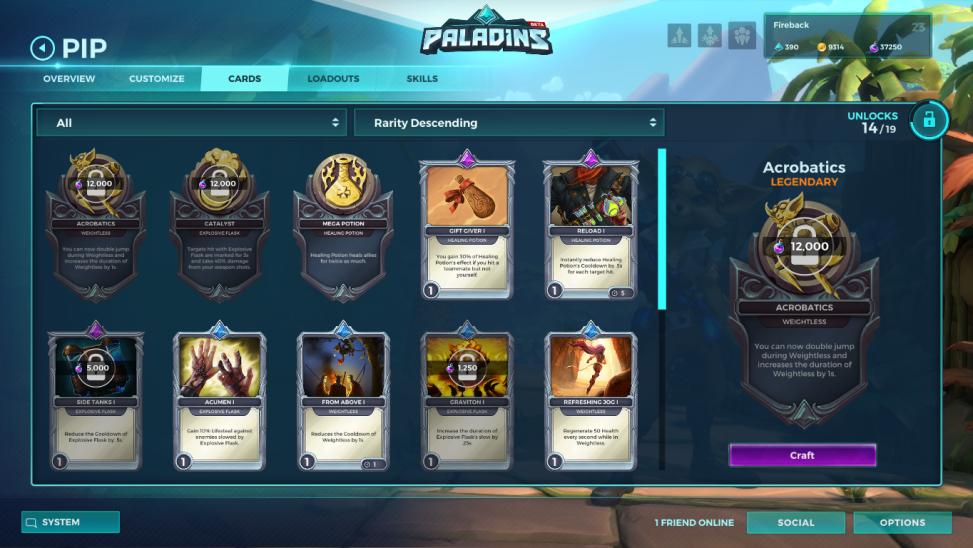 Paladins Carte