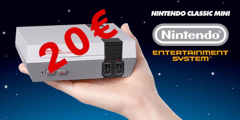 Une NES Classic Mini pour 20€