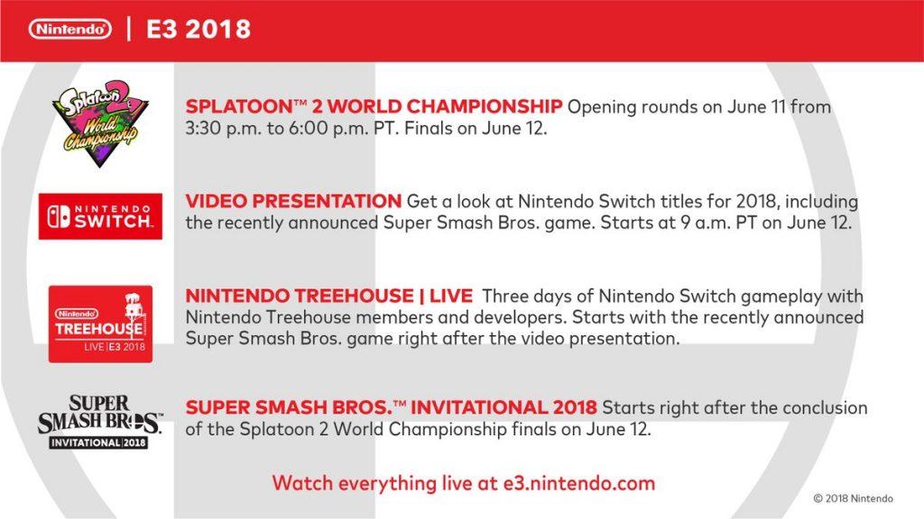 E3 2018 : Le prochain Nintendo Direct est daté