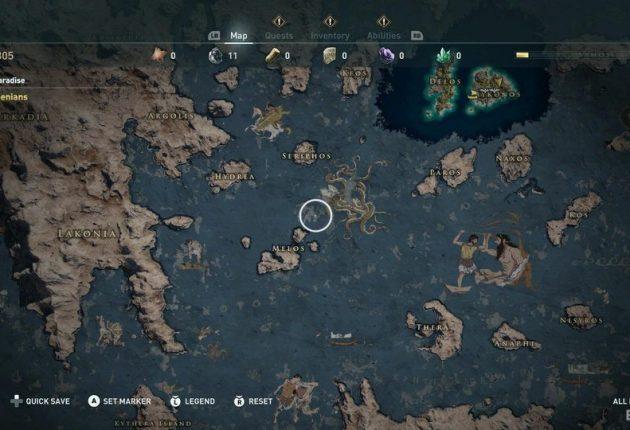 La vue de la carte