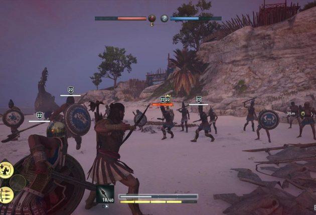 Un combat à l'arc