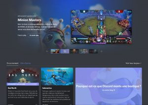 screen shot du store de jeux discord en beta