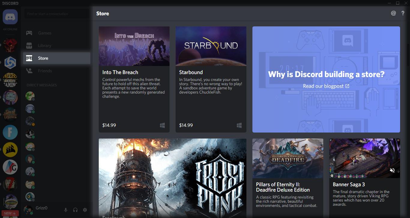 discord store jeux