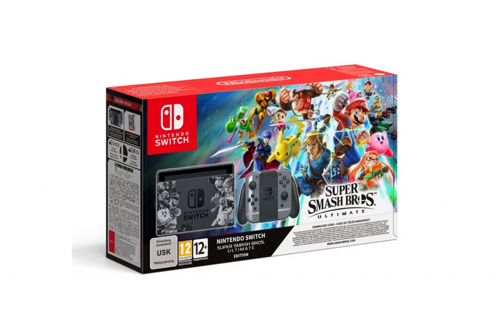 bundle de super smash bross ultimate sur nintendo switch