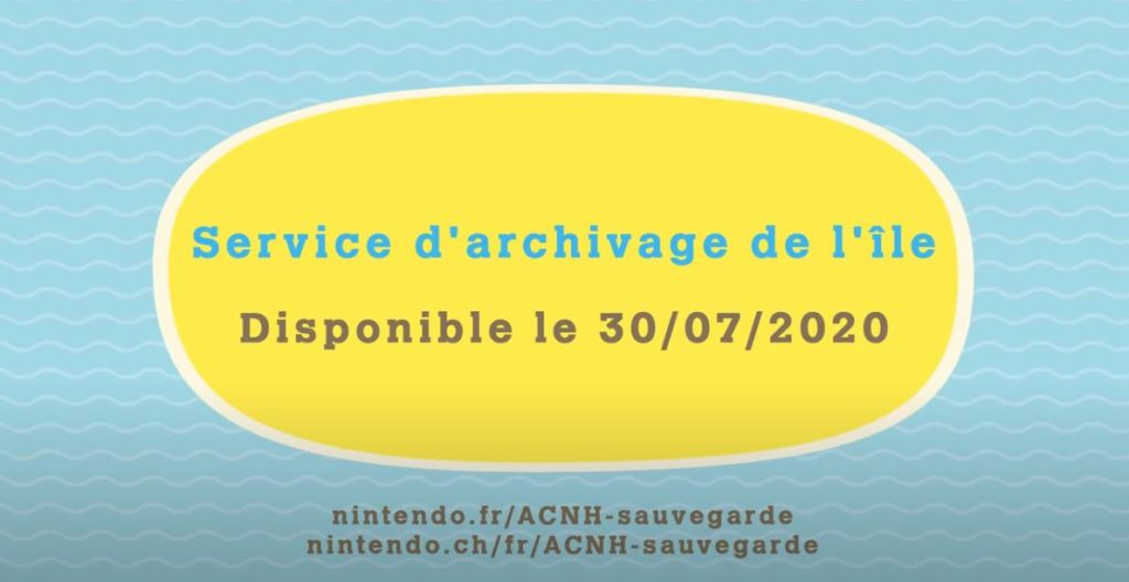 mise a jour animal crossing new horizons 30 juillet